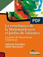 La Enseñanza de La Matemática en El Jardín de Infantes a Través de Secuencias Didácticas - Adriana Gonzáles, Edith Weinstein (1)