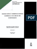 Crecidas súbitas y corrientes de detritos ocurridas el 18 de junio de 1991 en Antofagasta