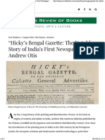 2018.08.03 Asian Review of Books Review of Hicky's Bengal Gazette by Andrew Otis