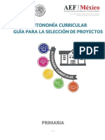 Guía Para La Selección de Proyectos-primaria