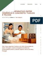 Cerâmica Salema _ Estudo Comparativo Entre Cerâmica e Concreto_ Tijolos e Telhas