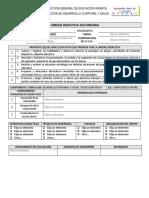 FORMATO DE PLANEACIÓN DE 1° SECUNDARIA EF MODELO EDUCATIVO