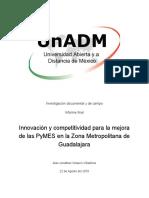 Innovación y Competitividad Para La Mejora de Las PyMES en La Zona Metropolitana de Guadalajara