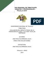 Evaluación Del Impacto Fiscal en La Transición de La Nic 17 a La Niif 16 en Las Empresas
