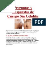 Preguntas y Respuestas de Cuerpo Sin Celulitis
