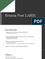 Ectasia Post LASIK A