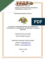Alcance de La Norma Internacional de Contabilidad n2 Inventarios en El Tratamiento de Las Existencias y Su Impacto Tributario Informe Final