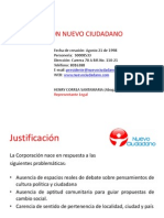 Presentación Corporación Nuevo Ciudadano