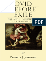 (Wisconsin Studies in Classics) Patricia J. Johnson-Ovid Before Exile_ Art and Punishment in the Metamorphoses (Wisconsin Studies in Classics)-University of Wisconsin Press (2007)