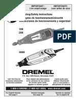 Manual Del Propietario Dremel 3000
