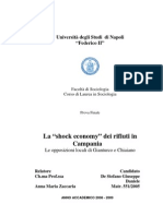 """La """"Shock Economy"""" Dei Rifiuti in Campania. Le Opposizioni Locali Di Gianturco e Chiaiano."""