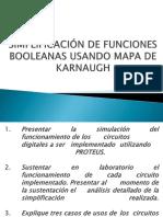 Simplificación de Funciones Booleanas Usando Mapa de Karnaugh