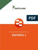 Evaluacion Español 1 SANTILLANA