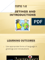 Mpu 1181 Topic 1 Greetings & Introductions