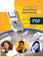 Hand Phone Users Survey 2006