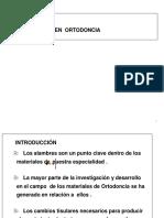 Alambres en Ortodoncia - Ana Lusia Silva. Universidad de Chile