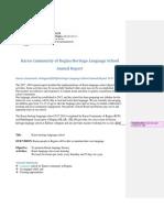 2016-2018 KCR language school annual report
