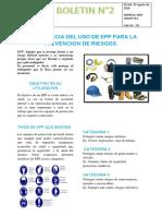 Boletín 2 Importancia del uso de EPP para la prevención de Riesgos..docx