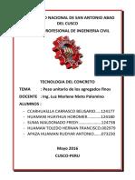 Informe Peso Unitario