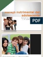 4. Manejo Nutrimental Del adolescente