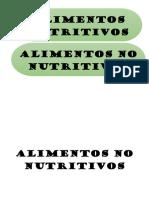 Alimentos No Nutritivos