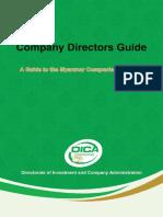 Director Guide under Myanmar Companies Law 2017