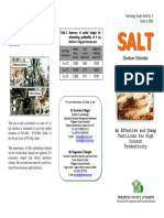 Salt Fertilizer for Coconut Palms