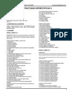 Resumen de Plan - Estructuras Hiperestaticas II (II-2018)