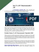 Prediksi Chelsea Vs AFC Bournemouth 1 September 2018.docx
