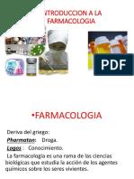Clase 1 Introduccion Farmaco