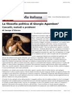 La Filosofia Politica Di Giorgio Agamben. Concetti, Metodi e Problemi