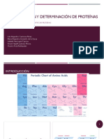 Determinación de proteínas