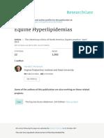 Equine Hyperlipidemias