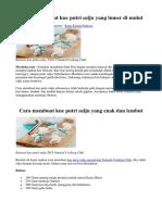 4 Cara Membuat Kue Putri Salju Yang Lumer Di Mulut