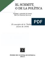 Schmitt, C. El concepto de lo político