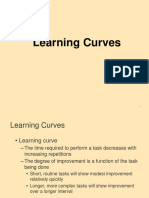 Lecture in OPRMGMT 6 Learning Curves