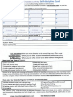 MEKA Self-discipline Card Front and Back