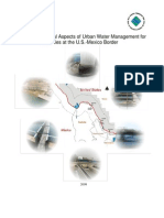 Local and Financial Aspects of urban water management for six cities at the U.S. Mexico border