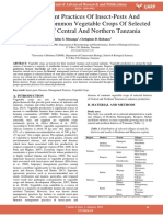 Management Practices of Insect Pests and Diseases of Common Vegetable Crops of Selected Districts of Central and Northern Tanzania