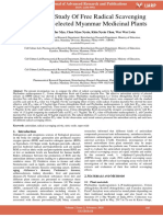 Comparative Study of Free Radical Scavenging Potential of Selected Myanmar Medicinal Plants