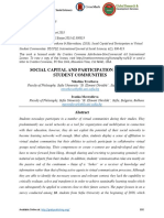 SOCIAL CAPITAL AND PARTICIPATION IN VIRTUAL STUDENT COMMUNITIES