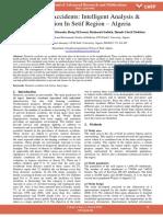 Domestic Accidents Intelligent Analysis Prevention in Setif Region Algeria