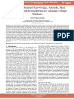 Hivaids Related Knowledge Attitude Risk Perception and Sexual Behavior