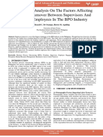 Comparative Analysis on the Factors Affecting Employee Turnover Between Supervisors and Frontline Employees in the Bpo Industry