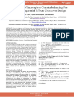 Construction of Incomplete Counterbalancing for Immediate Sequential Effects Crossover Design