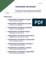 ESPAÑOL PARA EXTRANJEROS Oraciones Subordinadas Adverbiales