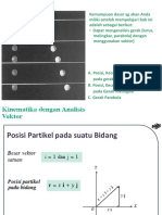 Bab 1 Kinematika dengan Analisis Vektor.pptx
