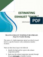 Estimated exhaust Gas turbine swirl