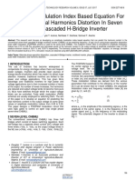 Amplitude Modulation Index Based Equation for Predicting Total Harmonics Distortion in Seven Level Cascaded H Bridge Inverter
