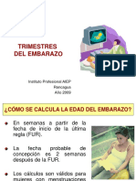 Clase 4. TrimestresEmbarazo y Embarazo Patologico